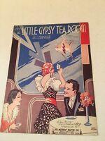 Vintage Sheet Music IN A LITTLE GYPSY TEA ROOM by Leslie & Burke1935