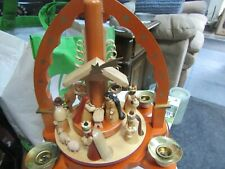 Vintage Midwest Of Cannon Falls Made In Germany Nativity Scene Pyramid Complete