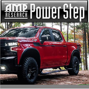 AMP PowerStep® Running Boards Lighted & PlugNPlay 2019-2020 Silverado 1500 CC EC