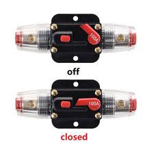 100A 12v Truck Car Audio Stereo Amp Amplifier Breaker Fuse Holder Inline Circuit