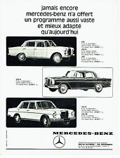 PUBLICITE ADVERTISING 126  1966   Mercedes-Benz   200 230s 250s