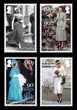Tristan da Cunha 2016 Queens 90th Birthday 4v set MNH