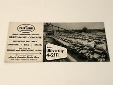 VINTAGE FAIRLAWN SUPPLY & COAL CO AKRON OH ADVERTISING INK BLOTTER CARD MINING