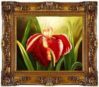 Ölbild BLUMEN Lilie Blumenmotive Blumenmalerei ÖLGEMÄLDE HANDGEMALT 50x60cm