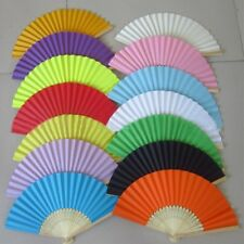 Womens Hand Held Folding Hand Fan Trendy Bamboo Paper Party Wedding Prom Dance