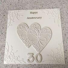 Handmade Pearl Wedding Anniversary Card Happy 30th Wedding Anniversary