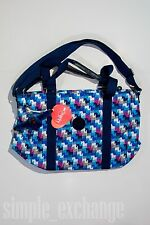 Kipling Adara Tote With Horse Pattern Blue