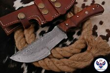 TRACKER DAMASCUS STEEL TRACKER HUNTING KNIFE WITH WOOD HANDLE - ZS 102f