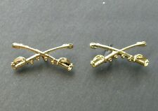 US Army Cavalry Swords Sabers Set of 2 Collar Lapel Pin Badges 3/4 inches