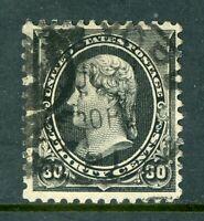 USA 1890 Small Banknote 30¢ Jefferson Black Scott 228 VFU I666 ⭐⭐⭐⭐⭐⭐