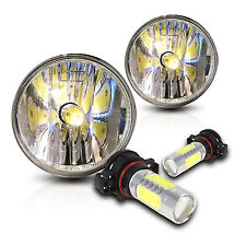 07-11 Ford Mustang Shelby GT500 Fog Lights Pair Set w/COB LED Bulbs - Clear
