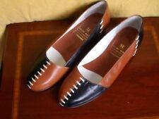 BRUNO MAGLI Damenschuhe - Slipper - Größe 36 1/2 -  zweifarbiges Leder