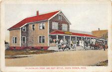 Green Harbor MA McLauthlin's Store & Post Office Horse & Wagon Postcard