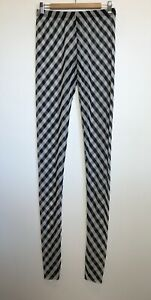 Alistair Trung NWT Size 4 (10) Black & White Stripe Leggings Australian Designer