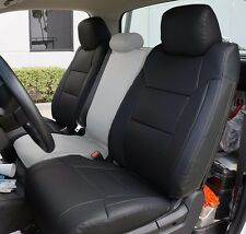 TOYOTA TUNDRA 2014-2016 BLACK S.LEATHER CUSTOM MADE FRONT SEAT COVER
