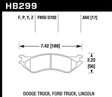 Disc Brake Pad Set-ST Front,Rear Hawk Perf HB299Y.650