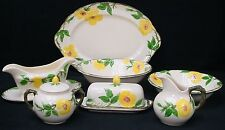 FRANCISCAN china MEADOW ROSE made in USA pattern 9-piece HOSTESS SERVING Set