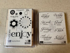 """STAMPIN UP! 2 STAMP SETS """"ENJOY EVERY MOMENT"""" & """"SINCERE SALUTATIONS"""" ~ NEW!"""