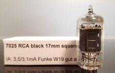 7025 12ax7 RCA Long Ribbed BLACK PLATE SQUARE D magnetiche Tube Tubo Valvola
