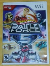 Hot Wheels: Battle Force 5 (Wii, 2009) *No Instructions* SHIPS FREE Mon-Sat!