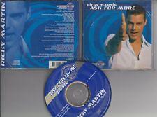 RICKY MARTIN Ask For More 3 TRACK PEPSI PROMO CD freepostage