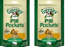New listing Greenies Pill Pockets Canine Chicken Flavor Dog Treats X 2