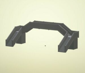 3D Printed Footbridge A, Plastic N Gauge, Scale made to your requirements