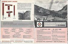 1964 SYMONS MFG Co Des Plaines IL CONCRETE Forming Equipment Vintage Catalog