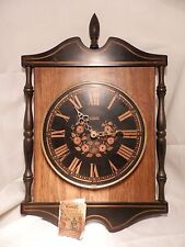 GREAT Vtg VERICHRON Hitchcock Style Electric Working Wall Clock 13X9X2