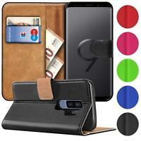 Book Case Für Samsung Galaxy S9+ Hülle Tasche Flip Cover Handy Schutz Hülle