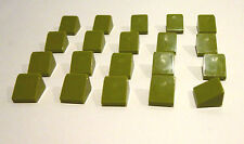 8 x Schrägstein abgerundet 4x1 grün Dachstein gebogen 61678 NEUWARE LEGO