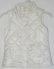 babyGAP Girls Size XS (4-5) Cream Fully-Lined Quilted Puffer Vest