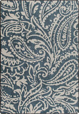 """2x8 Milliken Cashmira Blue Casual Floral Paisley Area Rug - Approx 2'1""""x7'8"""""""