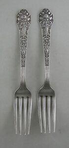 Sterling Gorham OLD MEDICI (1880) lunch forks (set of 2)