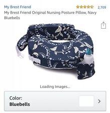 My Brest Friend Original Nursing Posture Pillow with Navy Bluebells Cover