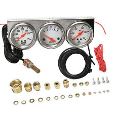 Triple Gauge 3 in 1 Oil Pressure Amp Meter Water Temp Panel