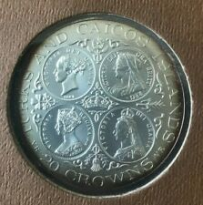 1976 Turks and Caicos 20 Crowns - Queen Victoria
