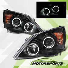 [Dual CCFL Halo] 2007 2008 2009 2010 2011 Honda CRV Projector Black Headlights