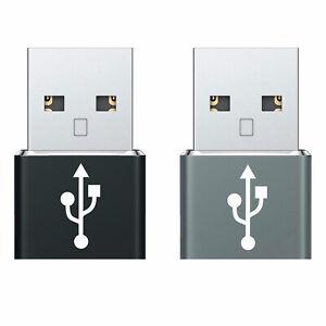 USB-C Female to USB Male Adapter 2 Pack iPhone 12 Pro Max Mini 11 Xr Xs Max SE 8