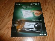 Icom IC-7100 UHF/VHF/UHF Transceiver Company Brochure Specs and Pictures