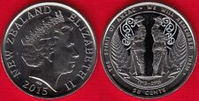 """New Zealand 50 cents 2015 """"Spirit of Anzac"""" Colored UNC"""