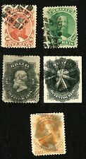 Brazil Stamps Scott #53, 58, 59, 60 & 66  All:  Used, HR