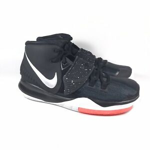 Nike Kyrie 6 GS Irving Jet Black White Basketball Shoes BQ5599-001 Youth Size 6Y