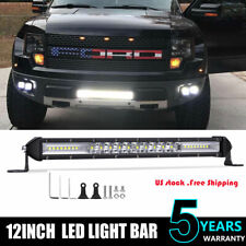 Slim Row 12Inch LED Work Light Bar Flood Spot Driving Lamp Car Truck Offroad ATV