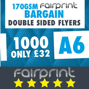 1000 A6 Flyers Leaflets Printed 170gsm Gloss