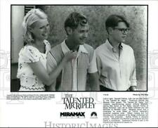 """1999 Press Photo The starring cast in a scene from """"The Talented Mr. Ripley."""""""