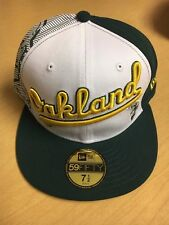 SAMPLE Oakland A's Athletics New Era Fitted Cap Hat 7 1/2 MLB NEW