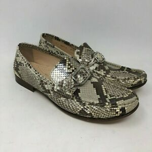 New Cole Haan Collection 9.5 Python Loafers Womens Snakeskin Shoe Slip On Buckle