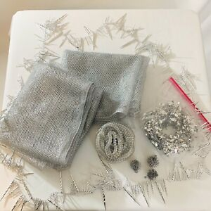 Lot Of Silver Decorations/ Crafts Crafting