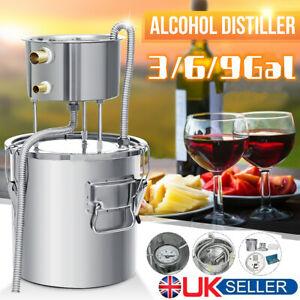 3/6/9Gal Moonshine Still Brewing Distiller Water Wine Alcohol Distilling Kit